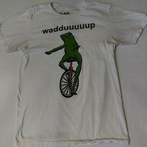 Black Matter funny frog cotton t-shirt. Sz S.